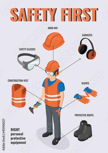 Work safety Fototapeta