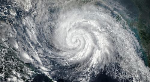 Valokuva Super Typhoon, tropical storm, cyclone, hurricane, tornado, over ocean
