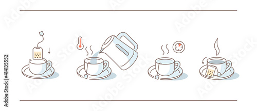 Photographie Instruction How to Brewing Tea Bag