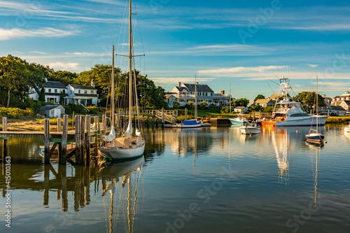 Carta da parati Massachusetts-Cape Cod-Harwich-Wychmere Harbor
