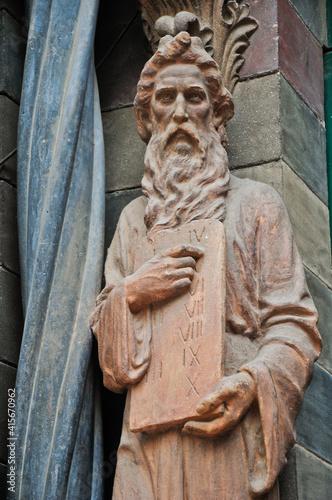 Obraz na plátně Moses with the ten commandments
