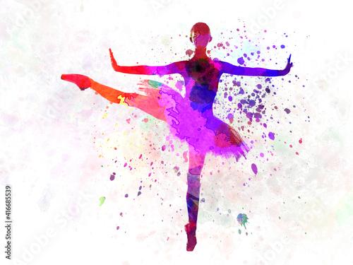 Woman ballerina ballet dancer dancing Fototapete
