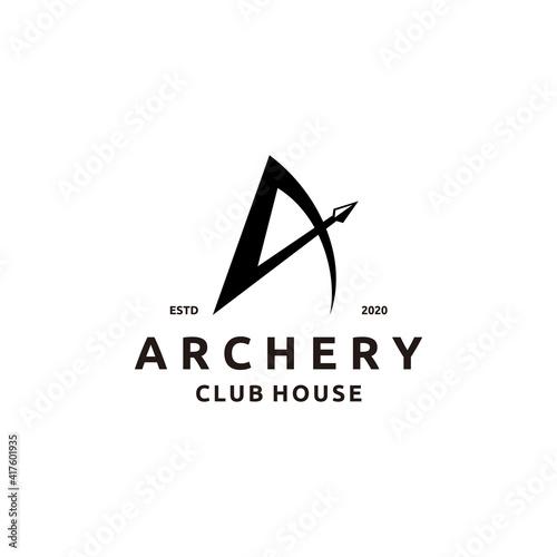 Fotografia Initial Letter A with Arrowhead for Archer Archery Outdoor Apparel Gear Hunter L