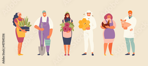 Fotografia Agriculture industry professions people