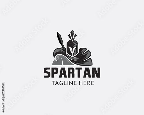 Fototapeta spartan logo head spartan strong spartan logo