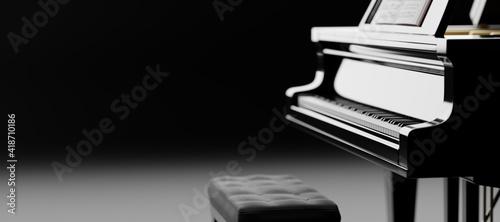 Foto Classic grand piano keyboard