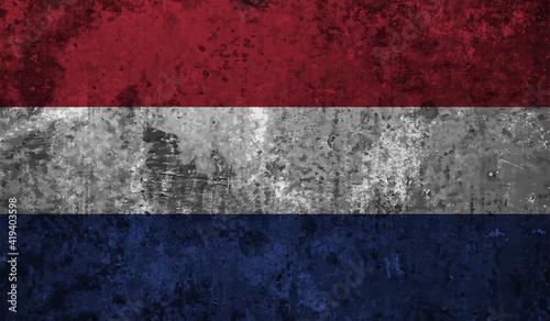 Photo Grunge Netherlands flag