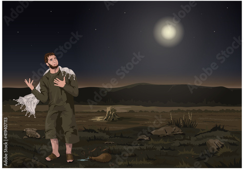 Slika na platnu Peter weeps bitterly after denying the Lord.