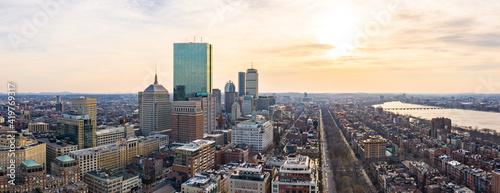 Fotografía Panorama of Boston Skyline