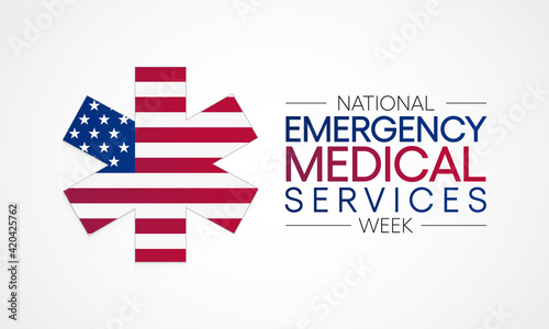 Fotografia National Emergency medical services week observed each year in may to appreciate the contributions of EMS practitioners in safeguarding the health, safety and wellbeing of their communities
