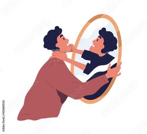 Photo Self-violence and abuse concept