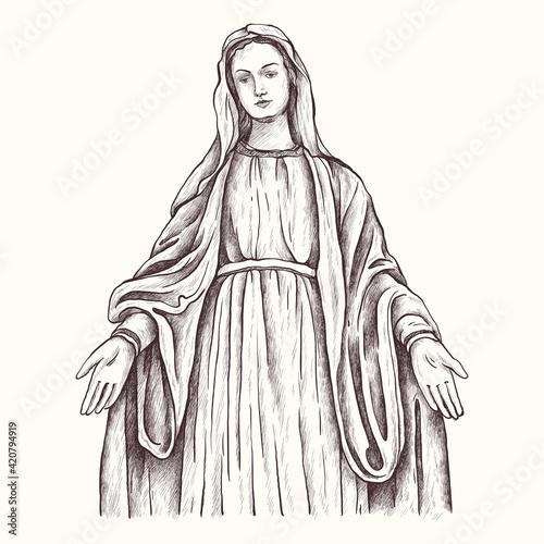 Fotografie, Obraz Holy Virgin Mary, Mother of God, Virgin Mary, Madonna, Mother of Jesus Christ, Christianity
