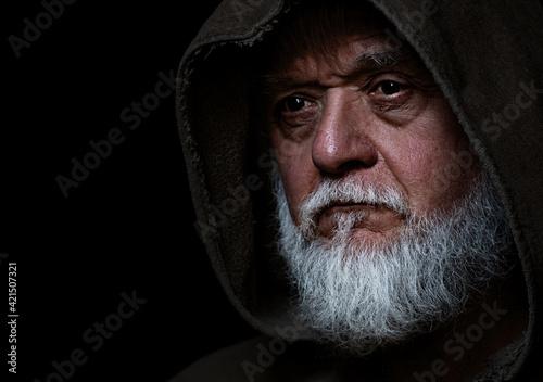 Fotografie, Obraz medieval old face of a man
