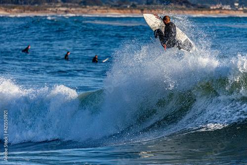 Fotografia, Obraz Surfers in Half Moon Bay