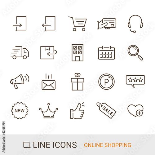 Cuadros en Lienzo ECサイトアイコン ショッピングガイド 定番コンテンツ ラインアイコン
