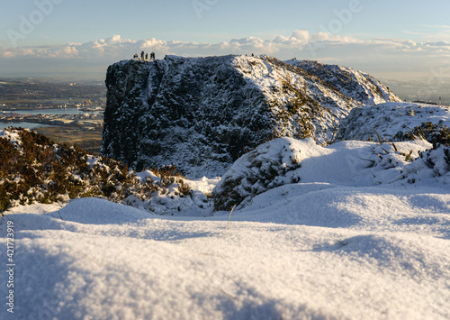 Fototapeta Scenic View Of Sea Against Sky During Winter