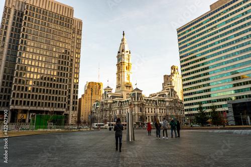 Leinwand Poster The impressive Philadelphia City Hall within center city!