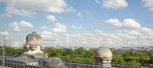 Photo View of the city from the top floor of the Louvre Museum