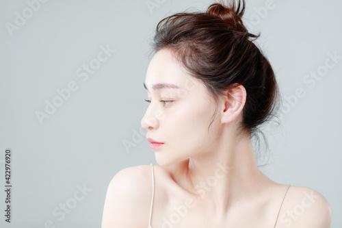 Portrait Of Beautiful Woman in Studio
