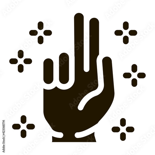 Foto baptizes and sanctifies hand icon Vector Glyph Illustration