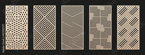 Canvas-taulu Laser cut patterns collection