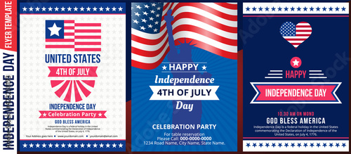 Obraz na płótnie Happy independence day 4 th july, United states of america day