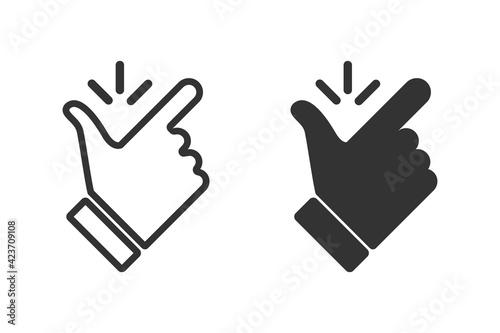 Slika na platnu Like easy vector icon