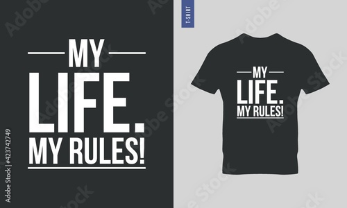Obraz na plátně Typography t shirt, ready to print vector design
