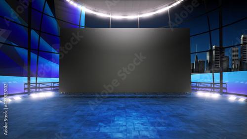 Fotografía Event arena studio backdrop with a big videowall