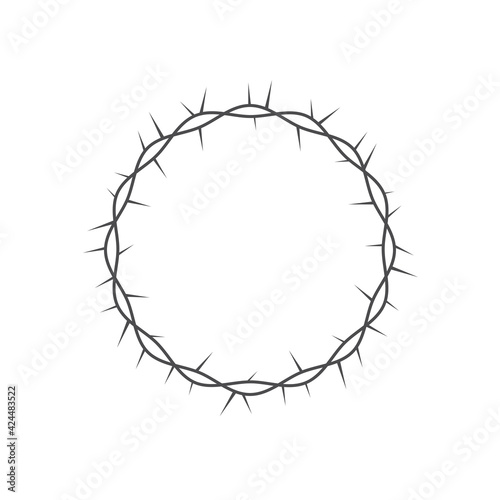 Stampa su Tela Crown of thorns icon