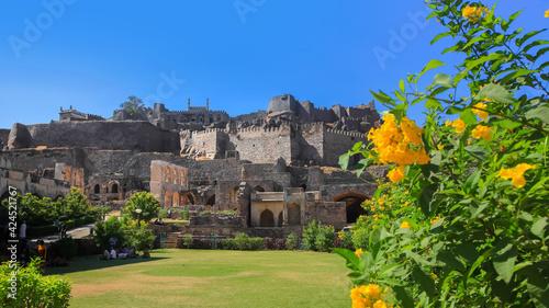 Fotografie, Obraz Historic Golconda fort in Hyderabad, India