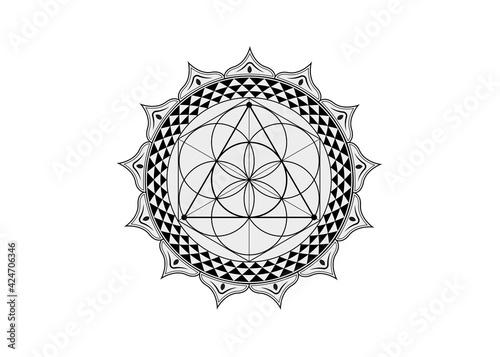 Murais de parede Flower of Life symbol Sacred Geometry