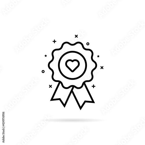 Canvas Print favorite icon like warranty rosette