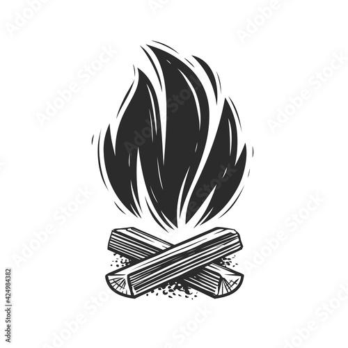 Valokuvatapetti Campfire symbol