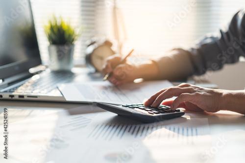 Fotografia Tax deduction planning concept