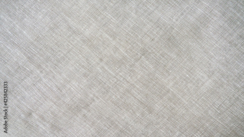 Canvas-taulu Natural linen and cotton fabric texture