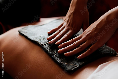 Canvas Print Fango massage is used for fango paraffin compresses