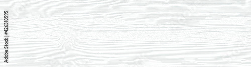 Canvastavla Cool white wooden board texture for backgrounds or design