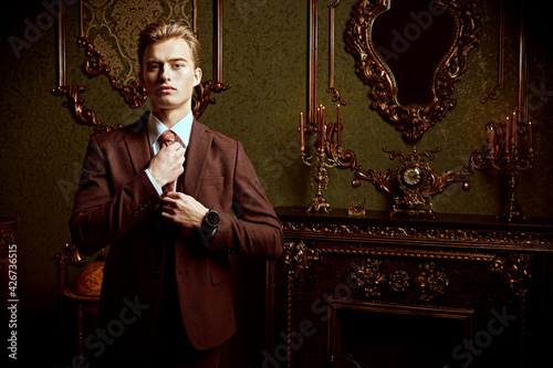 Canvas Print classic suit for young man