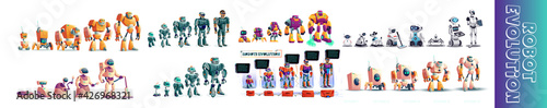 Fotografia, Obraz Robots and technology evolution concept illustration
