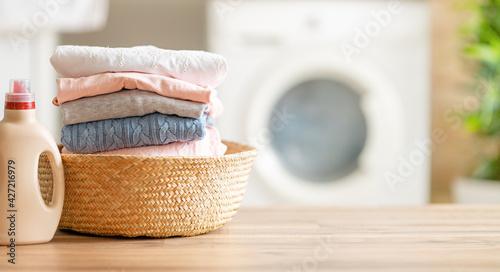 Fotografie, Obraz Interior of a real laundry room