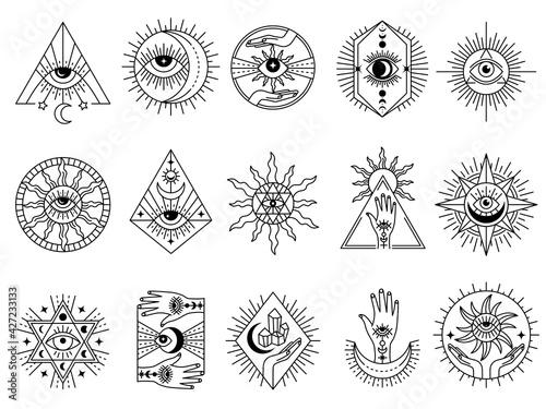 Obraz na płótnie Mystical symbols