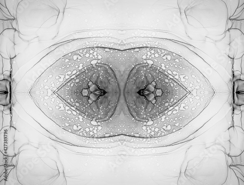 Canvas Print Grey Kaleidoscope Kids