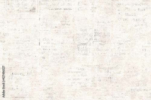 Obraz na plátně Newspaper paper grunge vintage old aged texture background