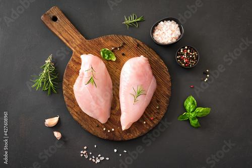 Fotografia Raw chicken breast fillet