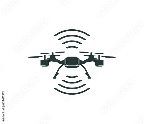 Tela drone icon vector isolated on white