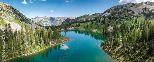 Fotografie, Obraz Beautiful alpine lake in the Wasatch mountains in Salt Lake, Utah, USA