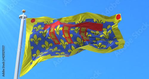 Fotografie, Obraz Flag of department of Pas-de-Calais in the Hauts-de-France, France