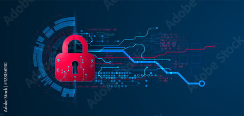 Fotografiet Personal data security Illustrates cyber data or information privacy idea