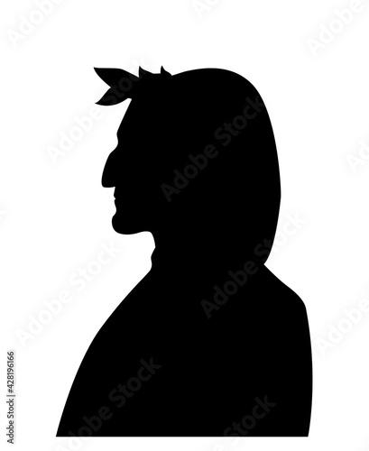 Fotografiet Illustration of the portrait of Dante Alighieri